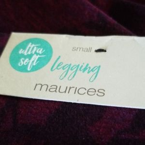 Maurices Pants - Maurices leggings berry floral soft small NWT